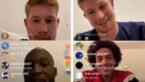 """Kevin De Bruyne dolt via livechat met collega-Rode Duivels: """"Ik heb mijn vrouw gezegd dat ik nu twee jaar langer moet voetballen"""""""