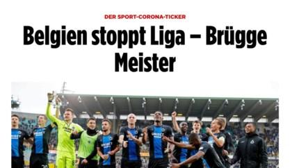 Stopzetting Belgische competitie even wereldnieuws