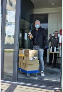 PXL dropt 300 kilo paaseieren in Limburgse ziekenhuizen