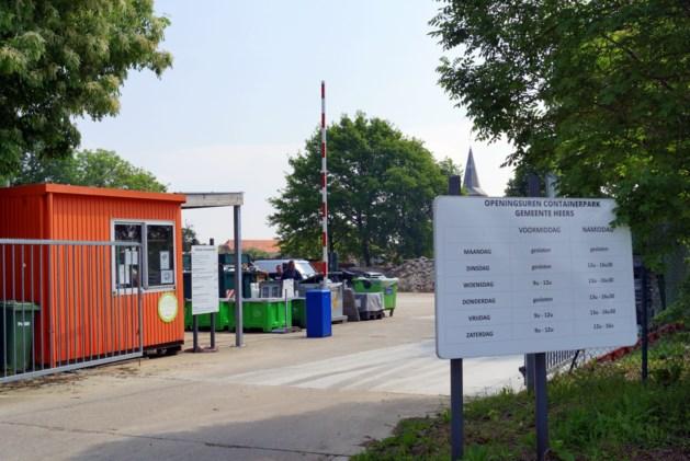 Containerpark in Opheers weer open vanaf dinsdag