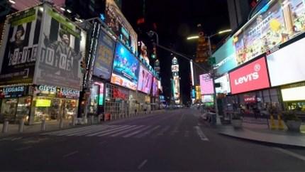 Zo stil en verlaten liggen de straten van New York er dezer dagen bij
