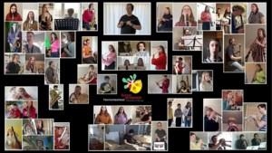 Muzikanten van Noord-Limburgse academie spelen verbluffend stuk vanuit hun kot