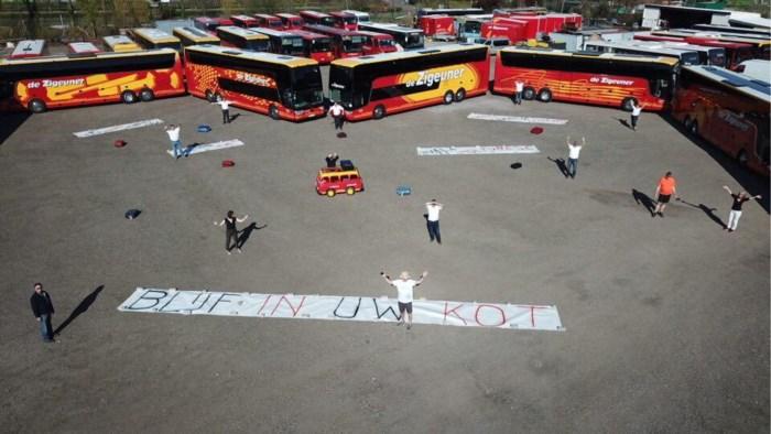 De Zigeuner vormt groot hart met bussen