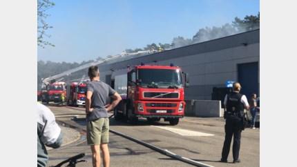 Uitslaande brand bij bandencentrale in Heusden-Zolder, omwonenden moeten ramen en deuren sluiten