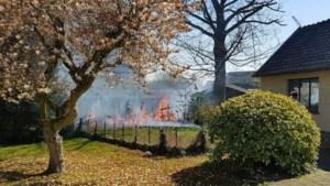 Tuinbrand slaat dankzij brandweer niet over op tuinhuis
