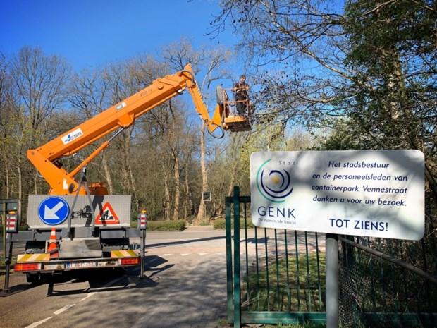Na Hasselt organiseert ook Genk livestream voor wachtrijen aan recyclageparken