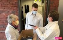 Geneeskunde voor het Volk schenkt  duizend mondmaskers aan Toermalien