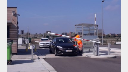 Korte rush op containerpark in Bilzen