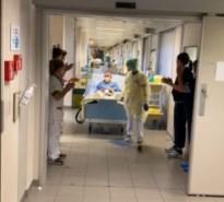 Personeel Jessa applaudisseert voor eerste patiënten die na beademing van intensieve mogen