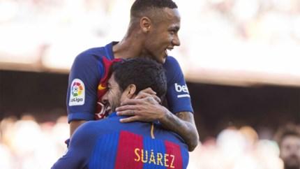 """Luis Suarez ziet Neymar graag terugkeren naar Barcelona: """"Hij blijft hier heel geliefd"""""""