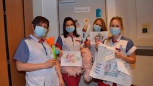 Dienst geriatrie van het Mariaziekenhuis Pelt fleurt de was van de patiënten op met leuke boodschappen