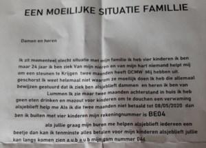 Bedelbrief Albanese vrouw veroorzaakt commotie in Lummen