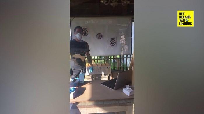 VIDEO. Limburgse duivensporter maakt inkorving coronaproof