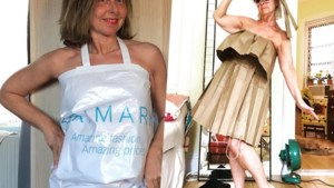 Stijl in quarantaine: winkeltassen worden korte jurkjes