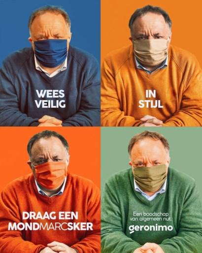 Nieuwe campagne met Marc Van Ranst toont hoe je correct een mondmasker draagt