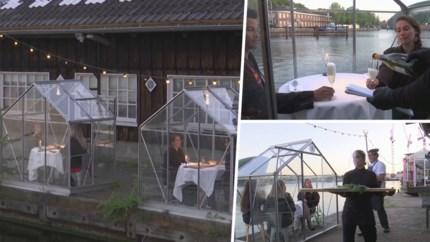 Restaurant bedenkt originele manier om klanten in alle veiligheid te bedienen: 'Serres Séparés'