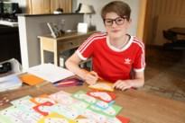 Febe (15) maakt 600 kaartjes