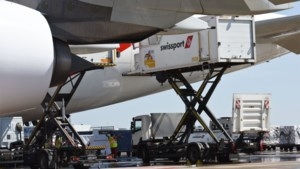 Crash dreigt voor Swissport België