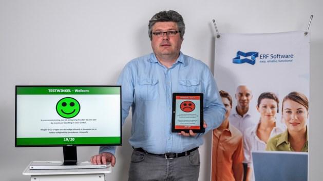 Tongerse IT-specialist maakt app om drukte in winkels op schermen te tonen