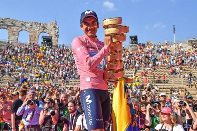"""Richard Carapaz gaat voor nieuw succes in Ronde van Italië: """"Ik wil dan op m'n allerbest zijn"""""""