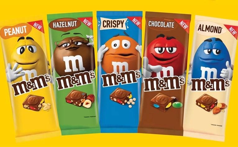M&M's lanceert chocoladerepen