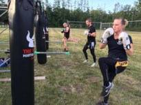 The Vikings boksen in openlucht