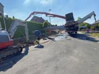 Betonpomp veroorzaakt lek in gasleiding