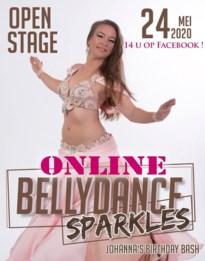 Corona verhindert dansoptreden, Johanna maakt er een online buikdansshow van