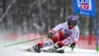 Oostenrijkse skiester Anna Veith bergt de latten op