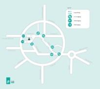 Digitaal systeem telt aantal bezoekers markt