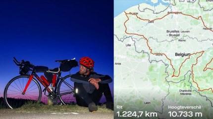 Deelnemer Kamp Waes geeft alle profrenners het nakijken met 'Tour de Belgique' van 1.225 km