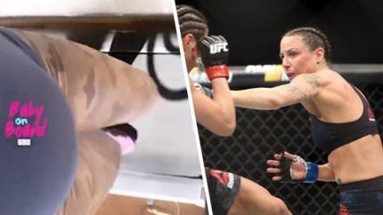 23 weken zwanger, maar MMA-vechtster blijft trainen als een bezetene