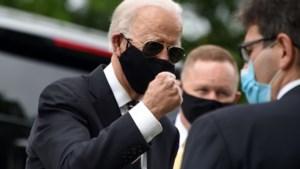 Presidentskandidaat Joe Biden voor het eerst sinds 15 maart weer in het openbaar