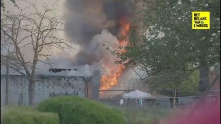 Hevige brand vernielt loods van schapenboer in Borgloon