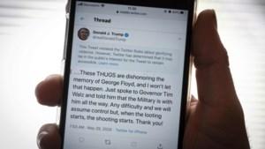 """Twitter verbergt Tweet van Trump die """"geweld verheerlijkt"""""""