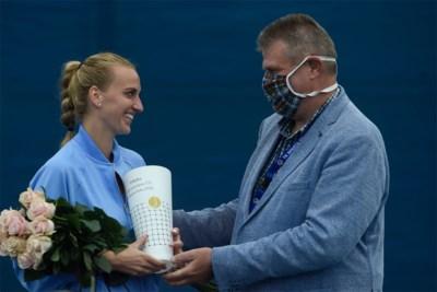 """Petra Kvitova wint toernooi achter gesloten deuren in Praag: """"Begin van een terugkeer naar het normale in het tennis"""""""