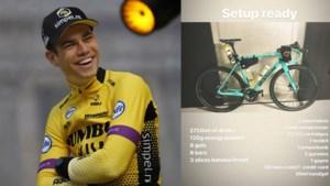 Wout van Aert rijdt een gravelrace van 324 (!) kilometer en neemt mee… een berg materiaal