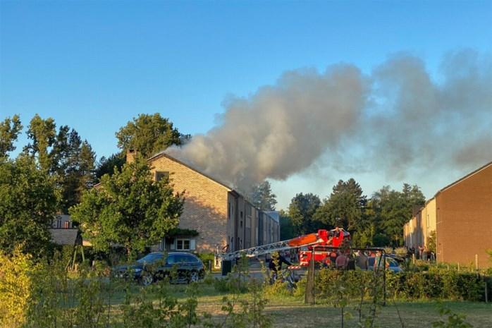 Zolder vernield door brand in Spalbeek