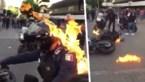 Relschopper steekt politieagent in brand tijdens protesten in Mexico
