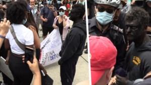 Man opgepakt door politie nadat hij Black Lives Matter-betoging verstoort als 'blackface'