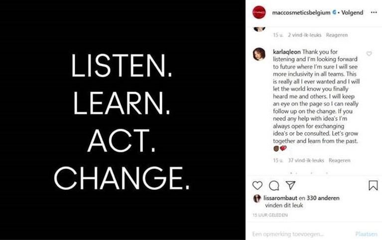 MAC België reageert na openhartige post van medewerkster die slachtoffer werd van racisme