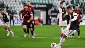 Ronaldo mist strafschop, maar plaatst zich met Juventus wel voor bekerfinale