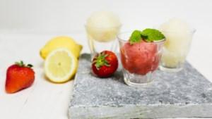 Sjiek zomerrecept: Italiaanse sorbetto van aardbei en peer