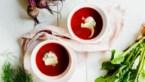 Sjiek zomerrecept: bietengazpacho met dille en zure room