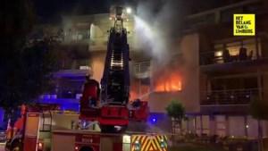 Appartement volledig uitgebrand in hartje Zonhoven: twee bewoners naar ziekenhuis