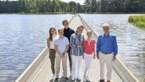Koninklijke familie fietst na Bokrijk verder naar Holsteenbron in Zonhoven
