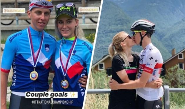 Tadej Pogacar verslaat Primoz Roglic op Sloveens kampioenschap tijdrijden, zijn vriendin wint bij de vrouwen