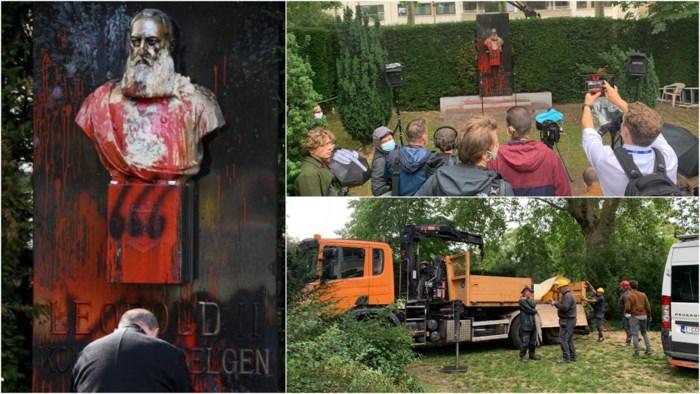 Standbeeld van Leopold II wordt weggehaald in Gent