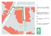 Werken zorgen voor een maand lang verkeershinder rond het gemeentehuis