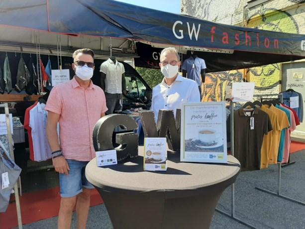 Wekelijkse marktdag met gratis koffie in Bilzen